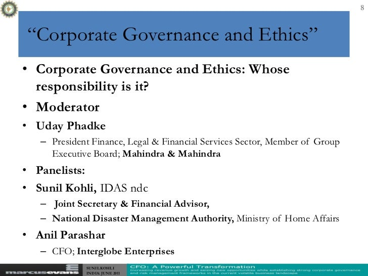 business ethics corporate governance Special report on business ethics: enhancing corporate governance download the pdf on the face of it, what does it have to do with ethics – or choices between right and wrong.