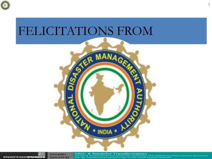 1FELICITATIONS FROM    SUNIL KOHLI    INDIA: JUNE 2011