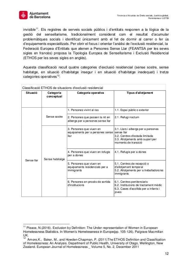 Tinència d'Alcaldia de Drets socials, Justícia global, Feminismes i LGTBI 12 invisible11 . Els registres de serveis social...