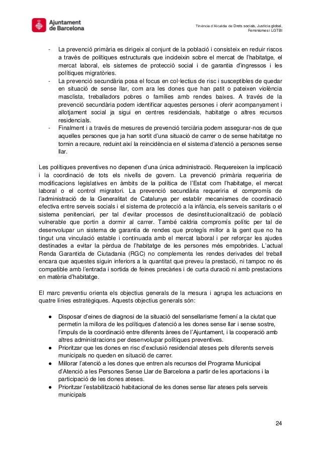Tinència d'Alcaldia de Drets socials, Justícia global, Feminismes i LGTBI 24 - La prevenció primària es dirigeix al conjun...