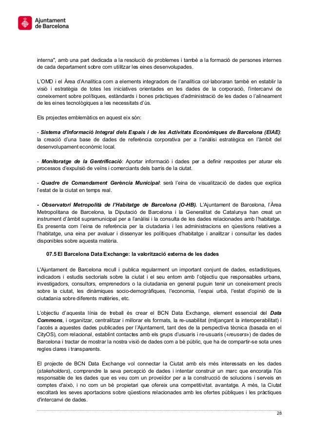 """28 interna"""", amb una part dedicada a la resolució de problemes i també a la formació de persones internes de cada departam..."""