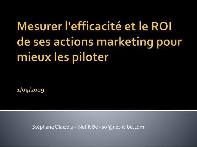StéphaneOlaïzola – Net It Be - so@net-it-be.com