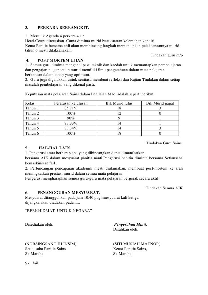 Minit Mesyuarat Panitia Sains Kali Pertama 2018 Flip Ebook Pages 1 5 Anyflip Anyflip