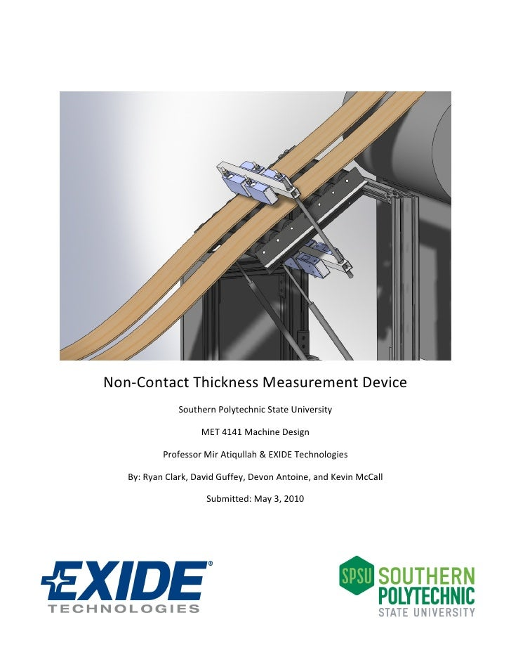 Non‐Contact Thickness Measurement Device      ...