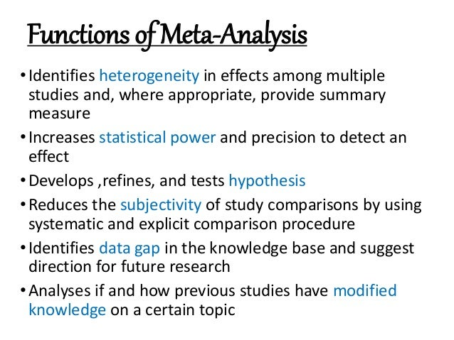 Meta Analysis: Made Easy With Example From Revman