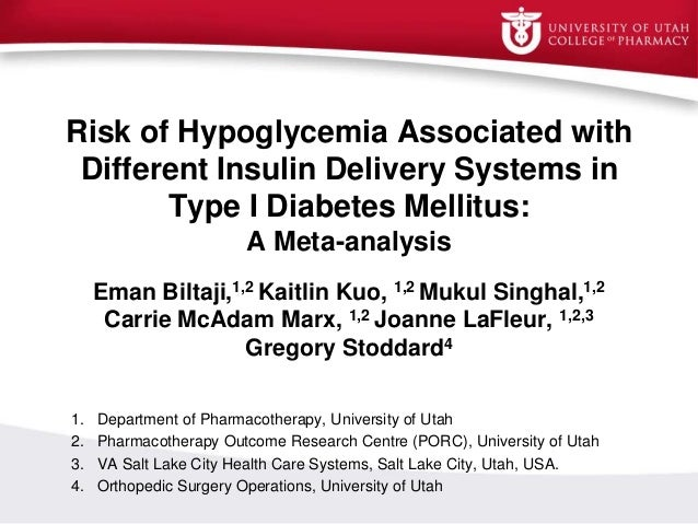 Risk of Hypoglycemia Associated with Different Insulin