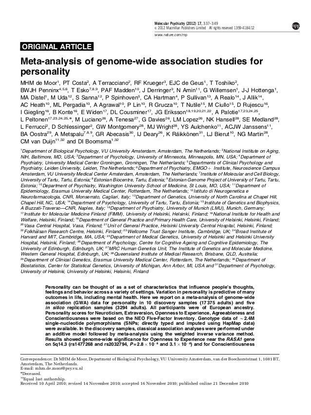 Molecular Psychiatry (2012) 17, 337–349                                                                   & 2012 Macmillan...