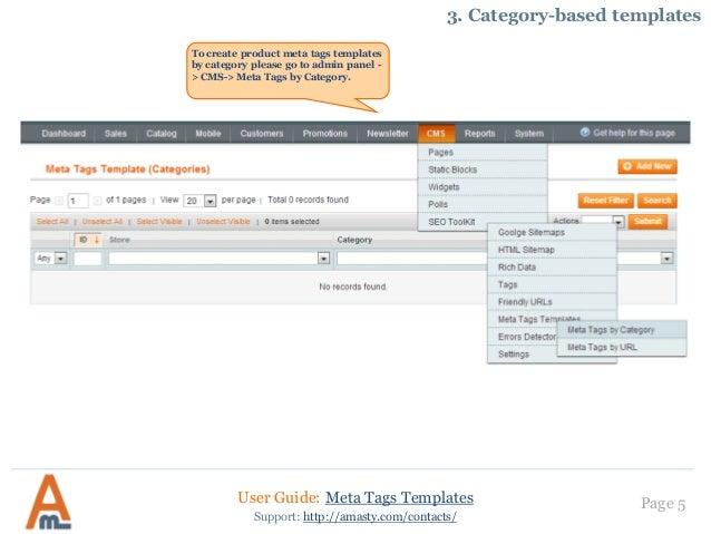 meta tags templates