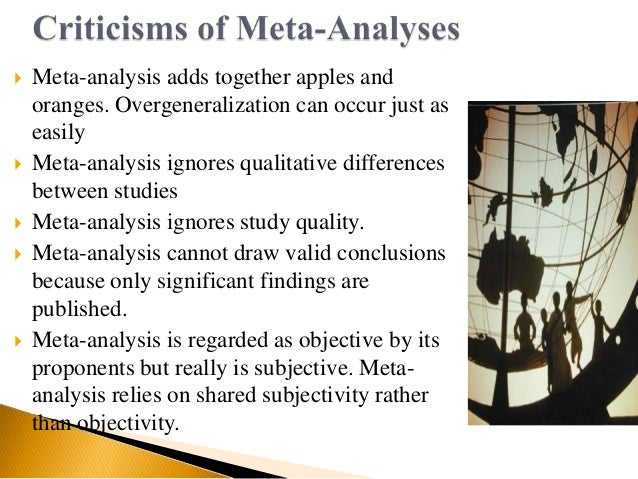 Meta Analysis - Qualitative Research Design