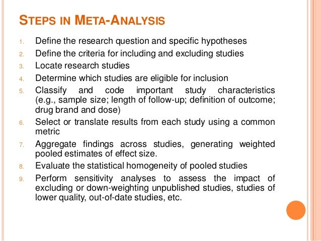 how to conduct a meta analysis example