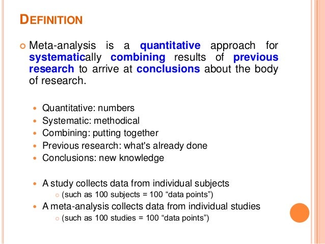 Meta-analysis in medical research - PubMed Central (PMC)
