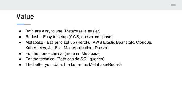 Metabase and Redash