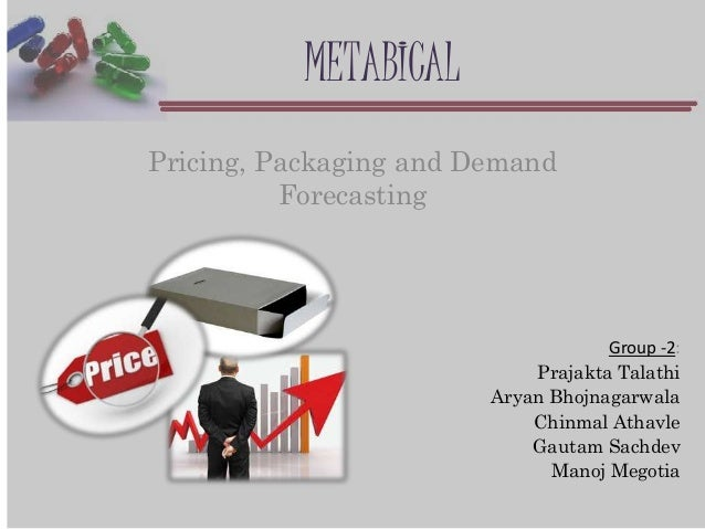 metabical pricing packaging and demand forecasting solution