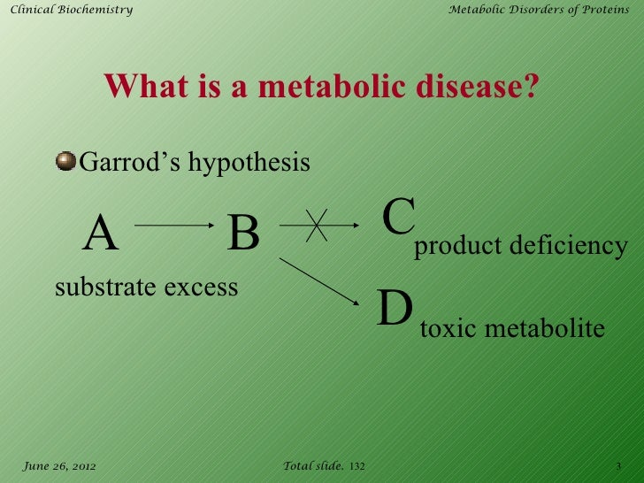 Metabolic disorders of proteins Slide 3