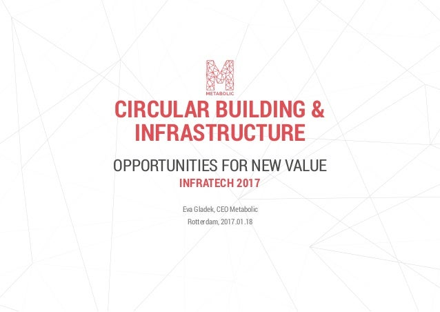OPPORTUNITIES FOR NEW VALUE Eva Gladek, CEO Metabolic Rotterdam, 2017.01.18 CIRCULAR BUILDING & INFRASTRUCTURE INFRATECH 2...