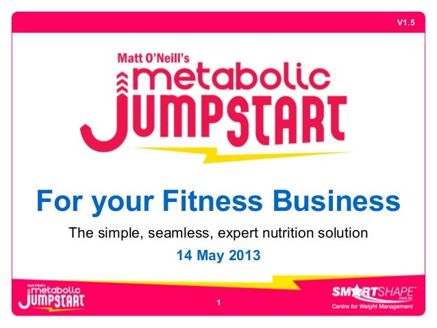 For your Fitness BusinessThe simple, seamless, expert nutrition solution14 May 2013V1.51