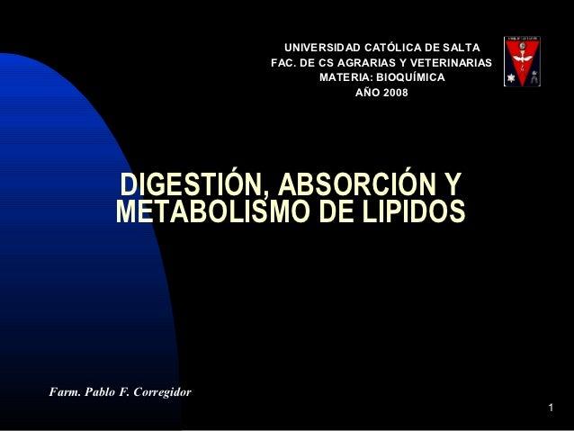 UNIVERSIDAD CATÓLICA DE SALTA                            FAC. DE CS AGRARIAS Y VETERINARIAS                               ...