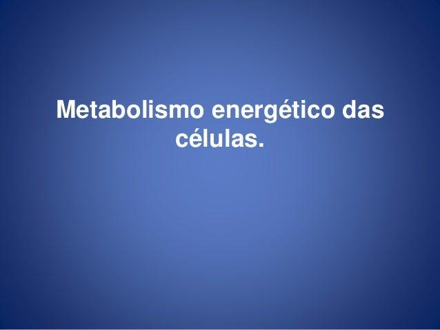Metabolismo energético das células.