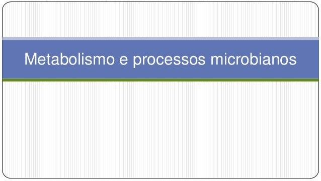 Metabolismo e processos microbianos