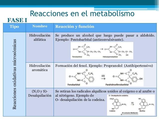 Metabolismos de fármacos