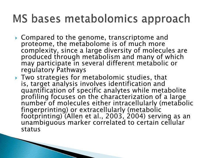 Common and envisaged technologies in metaboliteprofiling