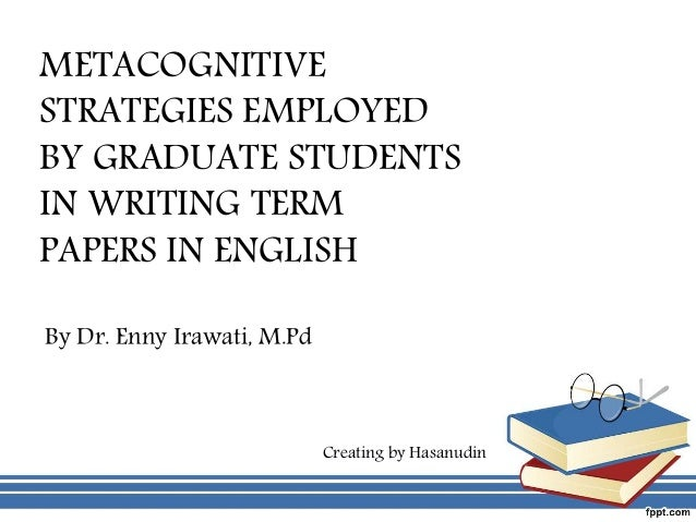 Strategies for Composition and Self-Regulation in the Writing Process
