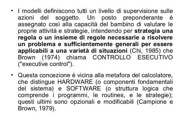 • I modelli definiscono tutti un livello di supervisione sulle azioni del soggetto. Un posto preponderante é assegnato cos...