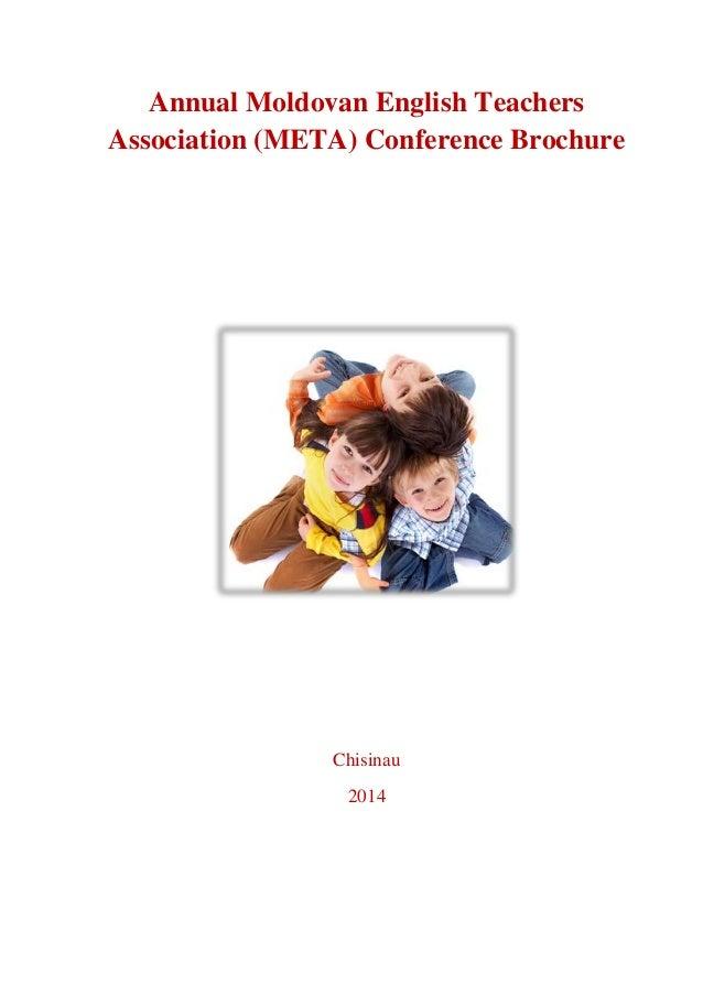 Annual Moldovan English Teachers Association (META) Conference Brochure Chisinau 2014