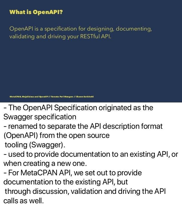 MetaCPAN, Mojolicious and OpenAPI Slide 3