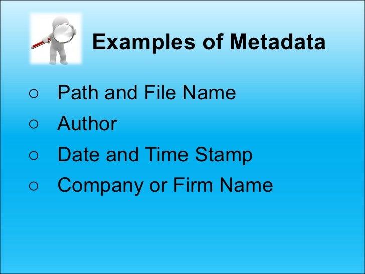 Metadata Complying With Oregon Formal Opinion 2011 187