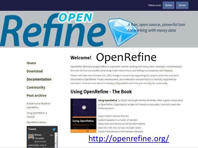 OpenRefine  http://openrefine.org/