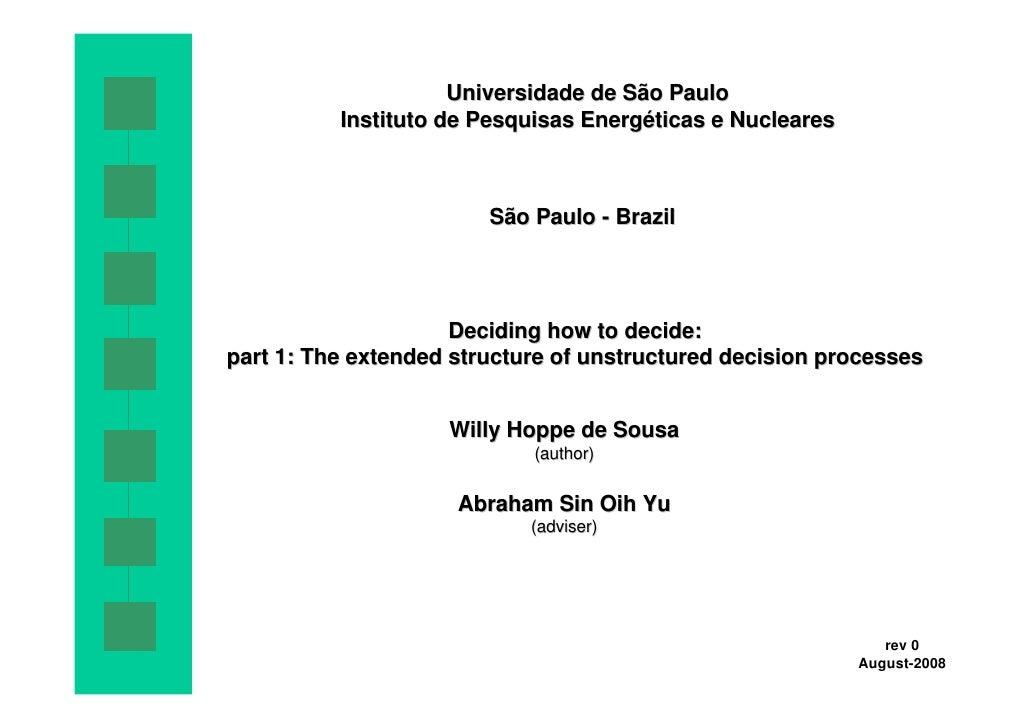 Universidade de São Paulo           Instituto de Pesquisas Energéticas e Nucleares                            São Paulo - ...