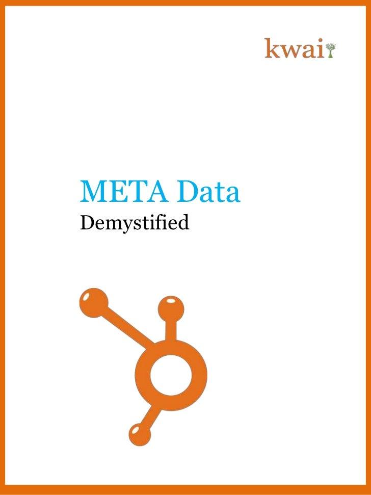 META DataDemystified