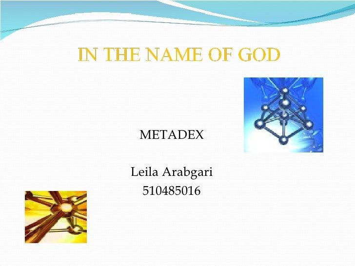 METADEX Leila Arabgari 510485016