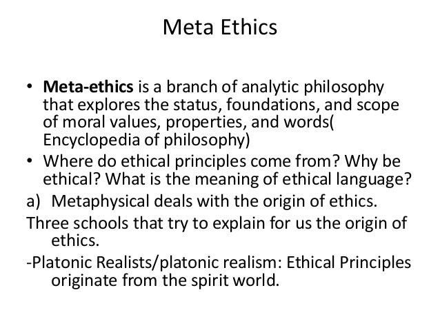 Business Meta-Ethics: an Analysis of Two Theories