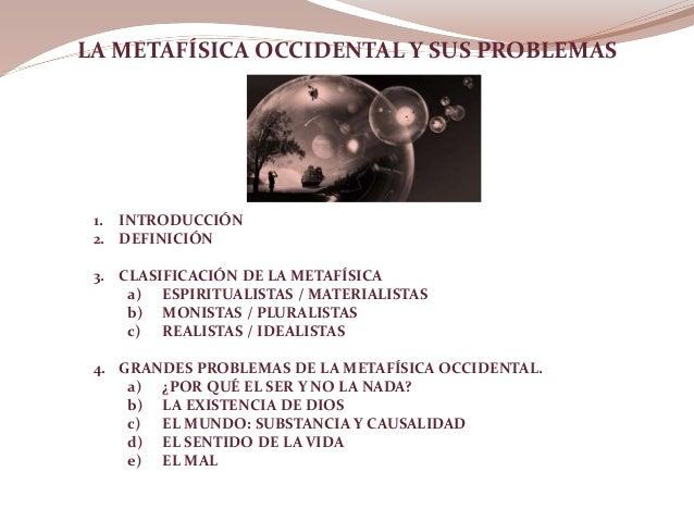 Metafisica Occidental Slide 2