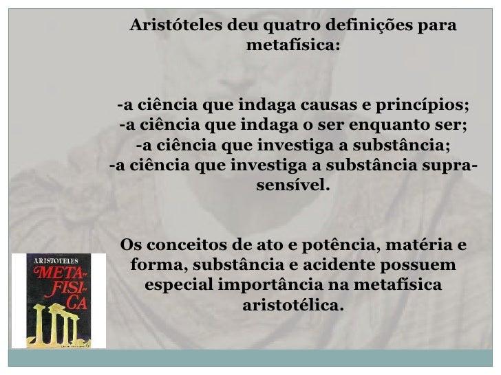 Metafísica em aristóteles Slide 3