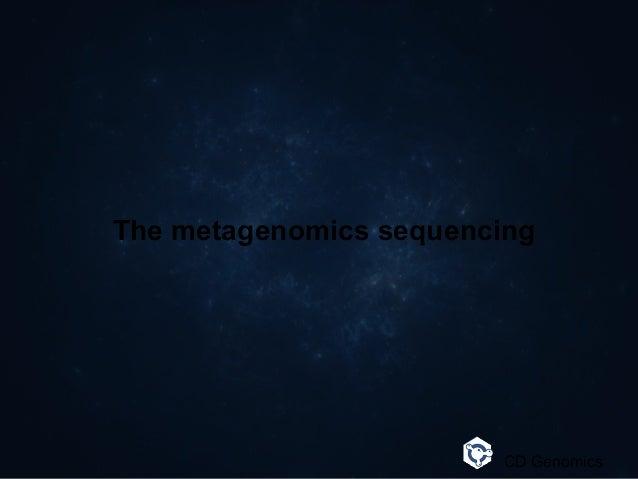 The metagenomics sequencing CD Genomics