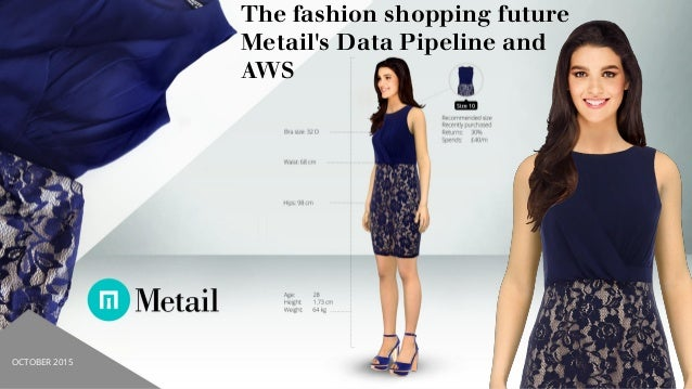 1 The fashion shopping future Metail's Data Pipeline and AWS OCTOBER 2015