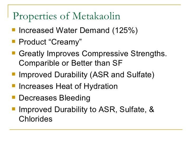 Metakaolin Presentation