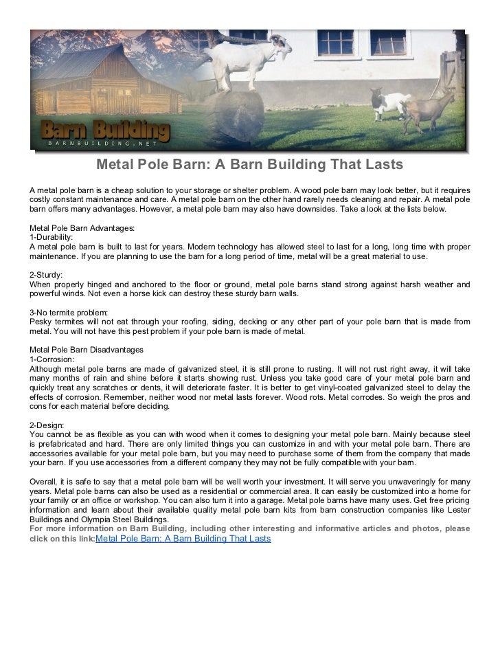 Metal Pole Barn: A Barn Building That Lasts