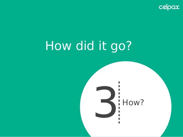 How did it go? 3How?