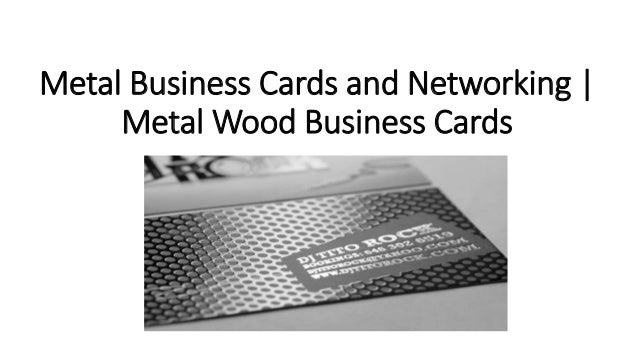 Metal business cards and networking
