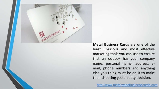 Metal business cards to represent your business metal business cards colourmoves