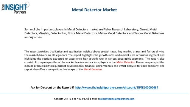 Metal Detector Market Size, Competitive Analysis and Forecast to 2025