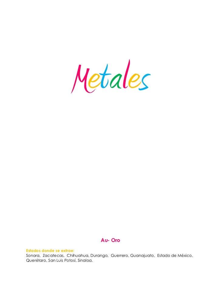Metales y no metales que se producen en mexico urtaz Image collections