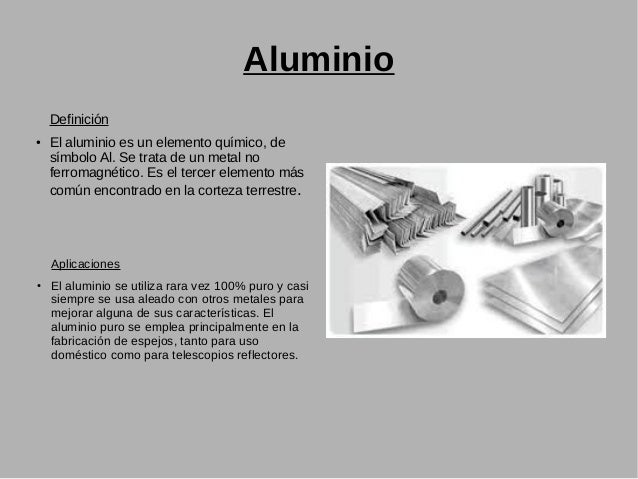 Metales - Simbolo de aluminio ...