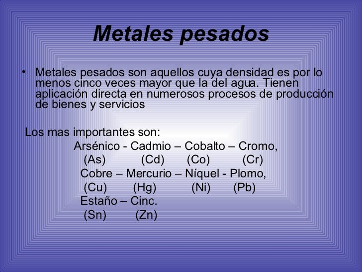 Metales Pesados Slide 2
