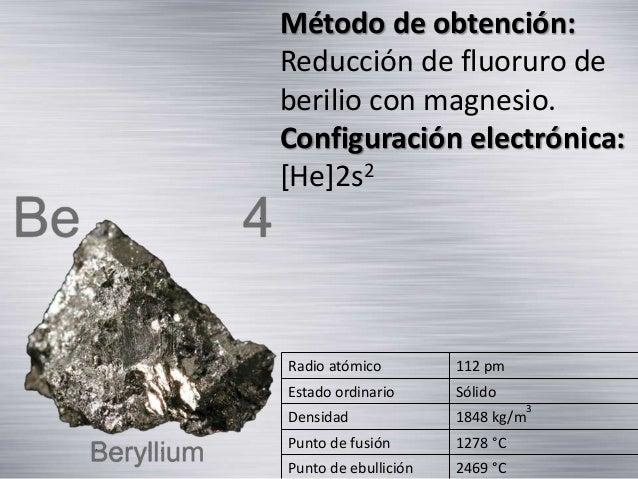 Metales alcalinotérreos Slide 3