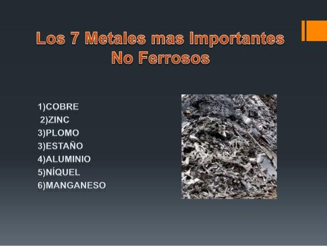 19 los metales no ferrosos - Tabla Periodica Metales No Ferrosos
